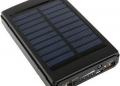 POWER BANK POWERBANK POWER-BANK PANEL SŁONECZNY SOLARNY SOLAR 2xUSB LED 6000MAH  2.1A 5V MAGINON MPP-6000S